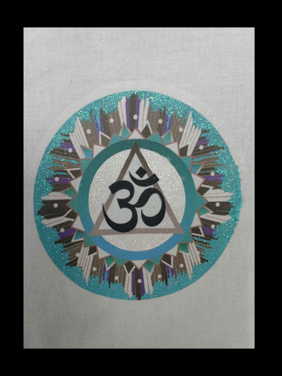 Om Symbol 3 Cloth Wall Hanging
