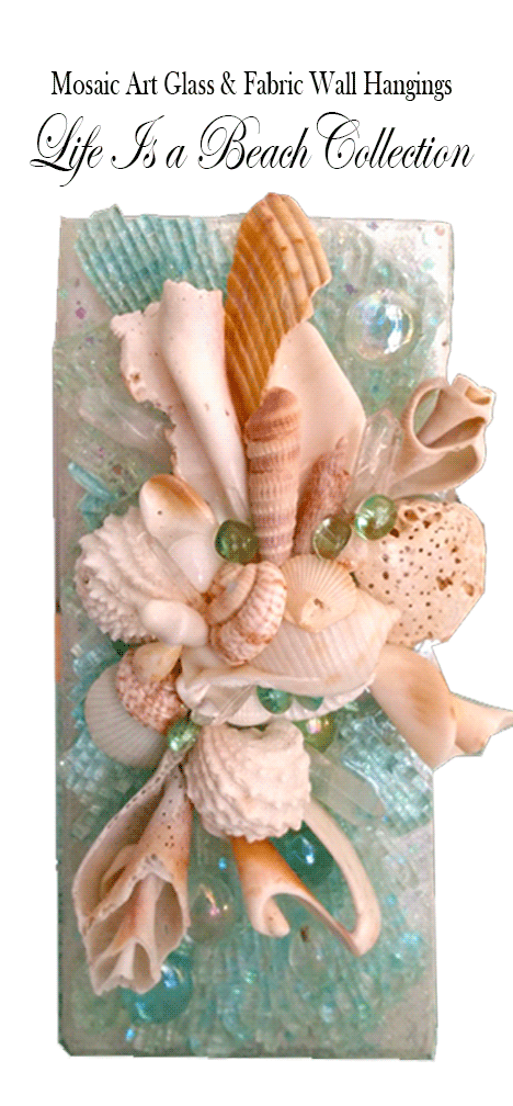 Mosaic Art Glass Life is a Beach Collection