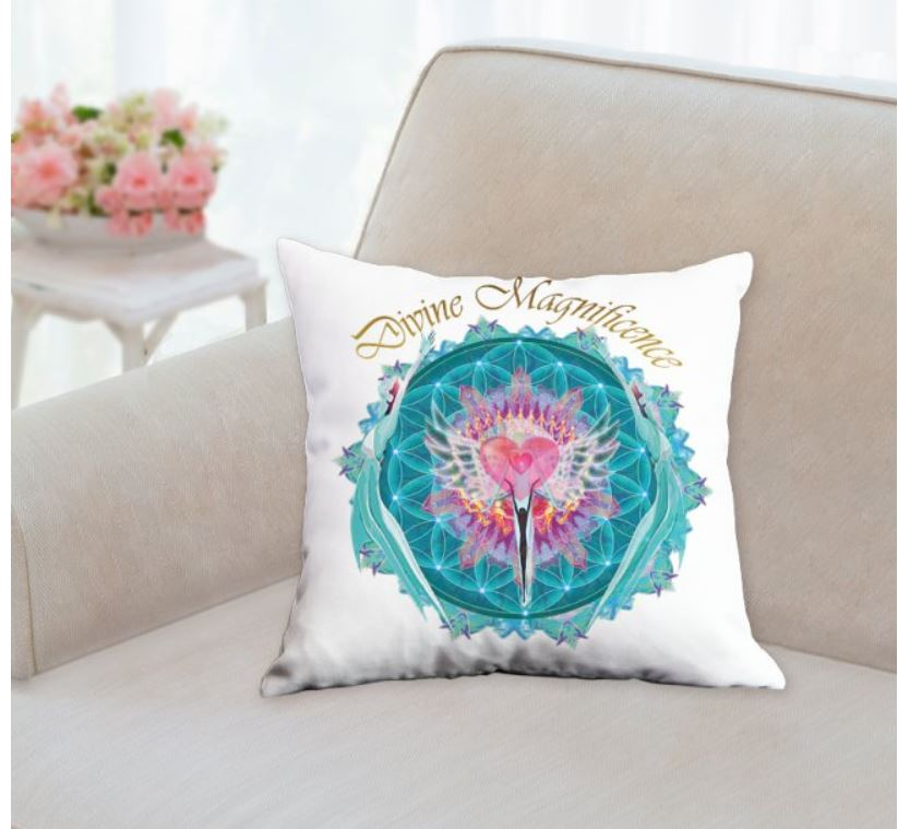 Divine Magnificence Throw Pillow