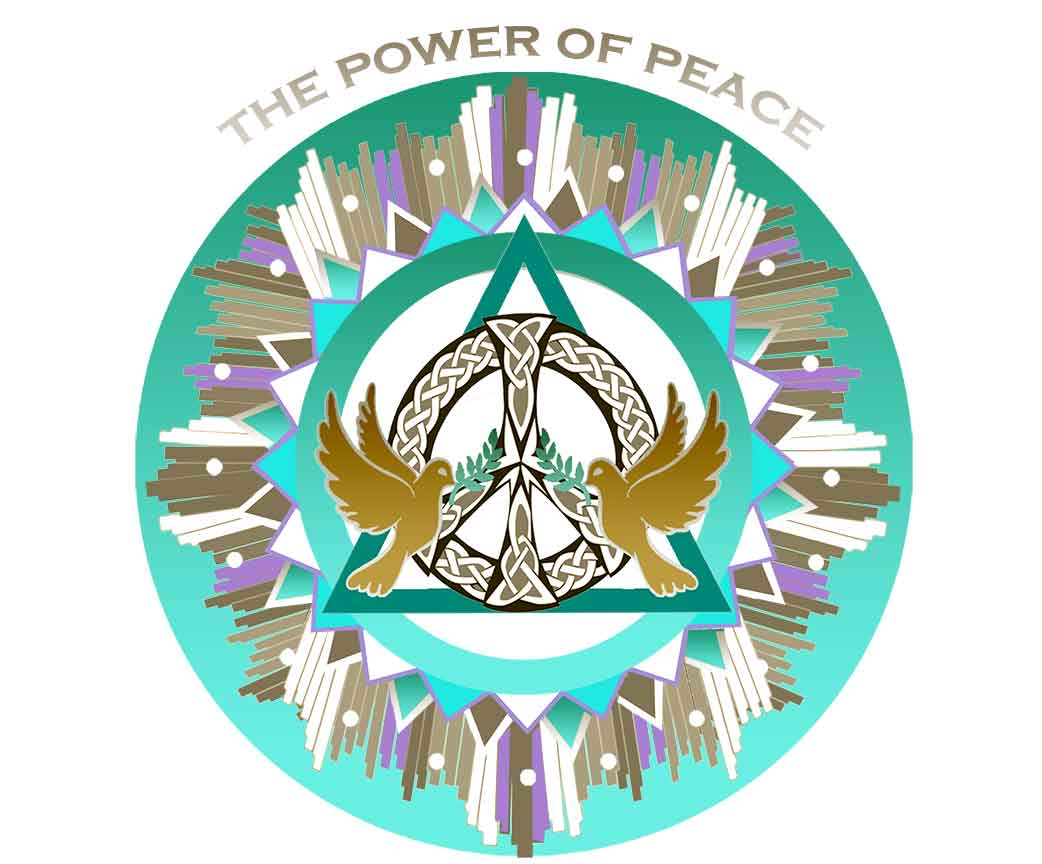 The power of peace window decal